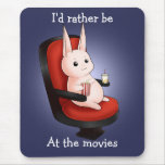 Conejo de conejito del cine de Kawaii Alfombrilla De Ratón