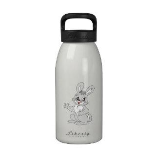 Conejo de conejito del dibujo animado botellas de beber