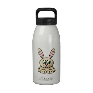 Conejo de conejito del dibujo animado botellas de agua reutilizables