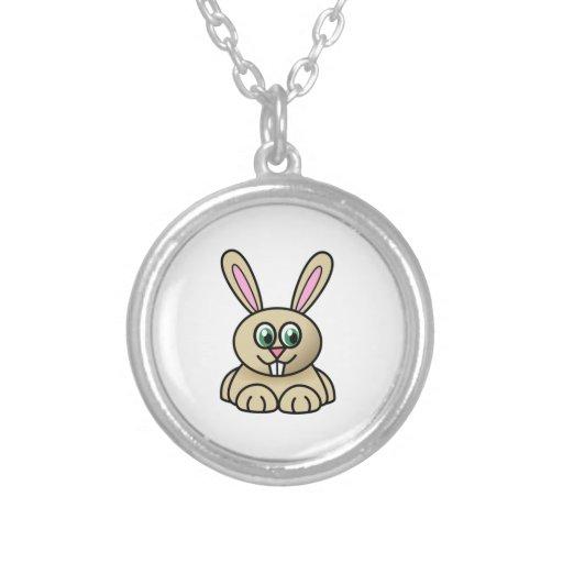 Conejo de conejito del dibujo animado collar personalizado