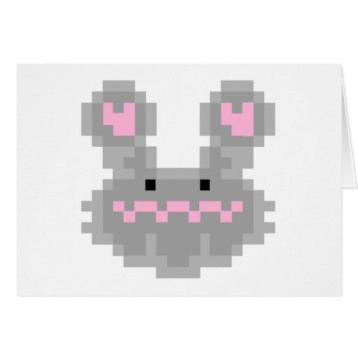 Conejo de conejito del pixel tarjeta de felicitación