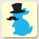 Conejo de conejito del sombrero de copa posavaso