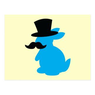 Conejo de conejito del sombrero de copa postales