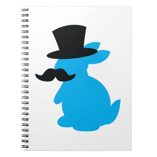 Conejo de conejito del sombrero de copa spiral notebooks