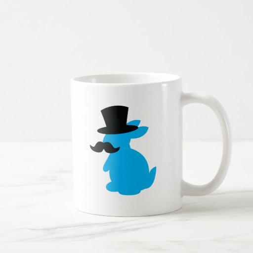 Conejo de conejito del sombrero de copa taza de café