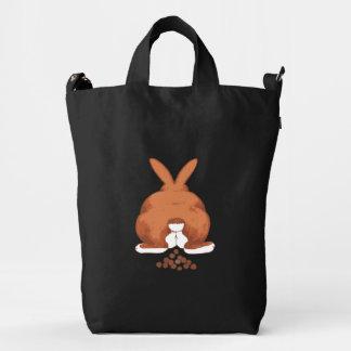 Conejo de conejito divertido de Pooping Bolsa De Lona Duck