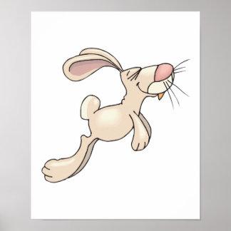 conejo de conejito feliz de la lupulización impresiones