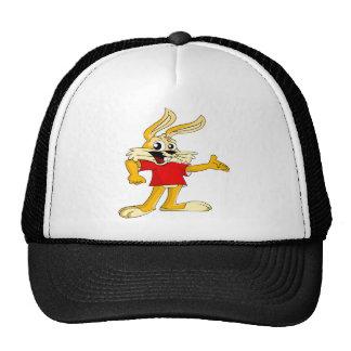 Conejo de conejito feliz del dibujo animado gorra