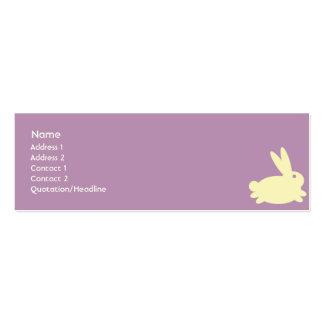 Conejo de conejito - flaco tarjeta de negocio