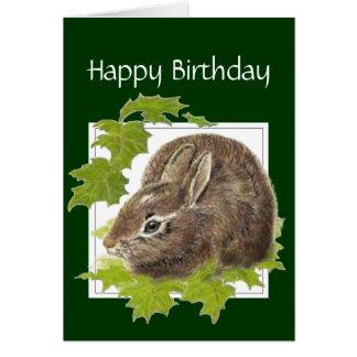 Conejo de conejito general del cumpleaños para alg tarjeton