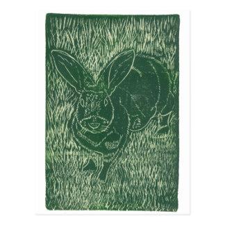 Conejo de conejito gris en la hierba postales