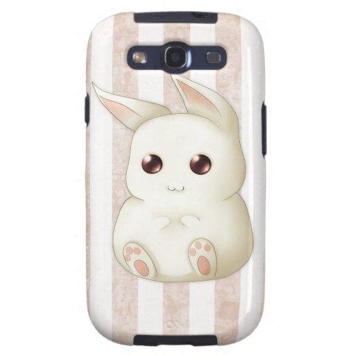 Conejo de conejito hinchado lindo de Kawaii Galaxy S3 Cobertura