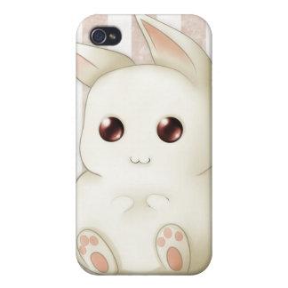 Conejo de conejito hinchado lindo de Kawaii iPhone 4/4S Carcasas
