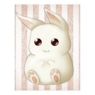 Conejo de conejito hinchado lindo de Kawaii Tarjeta Postal