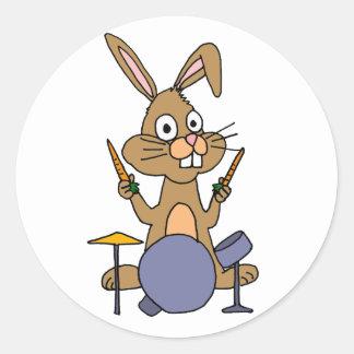 Conejo de conejito impresionante del ANUNCIO que Pegatina Redonda