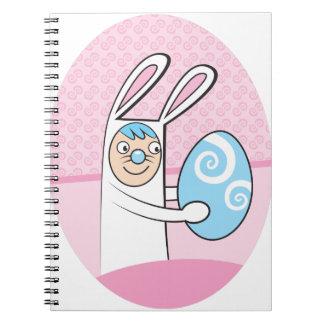 Conejo de conejito lindo con el huevo de Pascua Libro De Apuntes