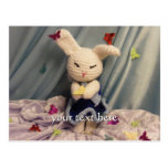 Conejo de conejito lindo de Amigurumi Postal