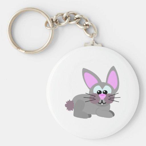 Conejo de conejito lindo de Goofkins Llavero Redondo Tipo Pin