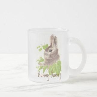 Conejo de conejito lindo de Hunny, taza de cristal