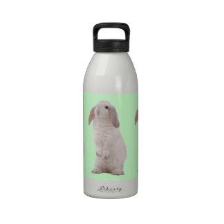 Conejo de conejito lindo de Kawaii Botella De Agua