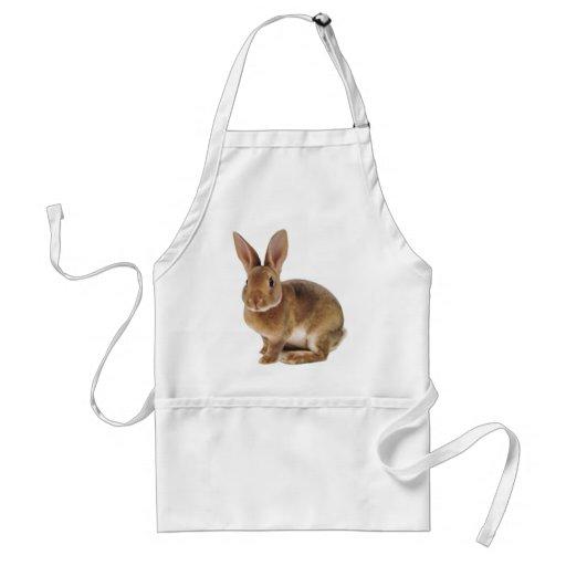 Conejo de conejito lindo de Kawaii Delantales