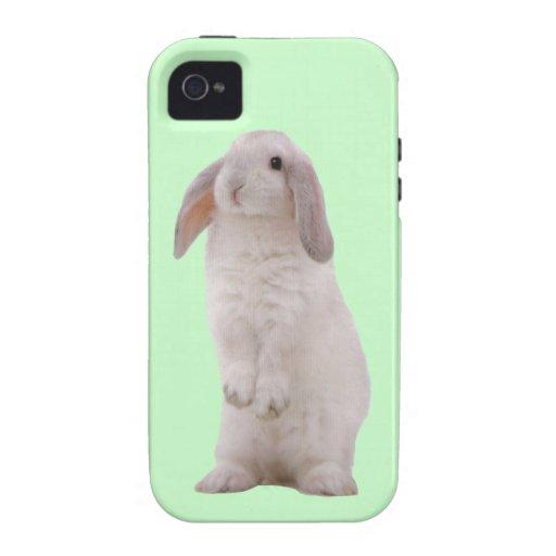 Conejo de conejito lindo de Kawaii Vibe iPhone 4 Carcasas