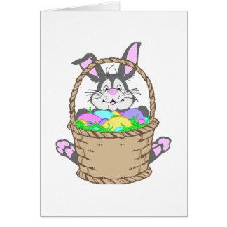 Conejo de conejito lindo de pascua tarjetón