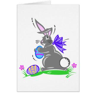 Conejo de conejito lindo de pascua felicitacion