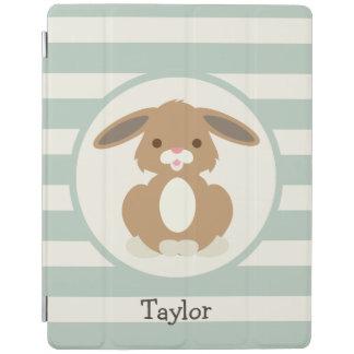 Conejo de conejito lindo del arbolado en verde cubierta de iPad