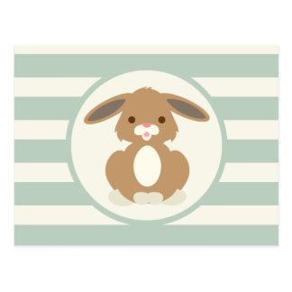 Conejo de conejito lindo del arbolado en verde postales