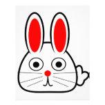 Conejo de conejito lindo del dibujo animado membrete