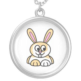 Conejo de conejito lindo del naranja y del blanco colgante redondo
