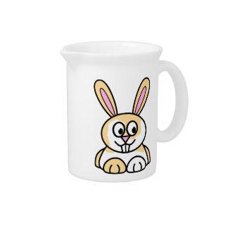 Conejo de conejito lindo del naranja y del blanco jarra de beber