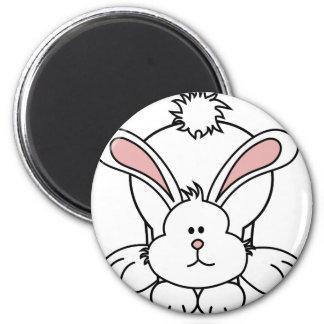 Conejo de conejito lindo imán redondo 5 cm