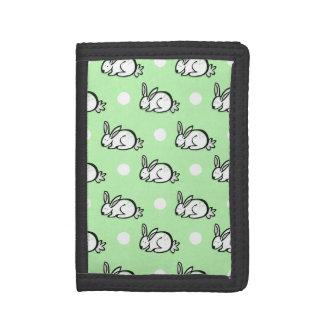 Conejo de conejito lindo Lunares verdes y blancos