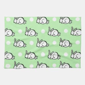 Conejo de conejito lindo; Lunares verdes y blancos