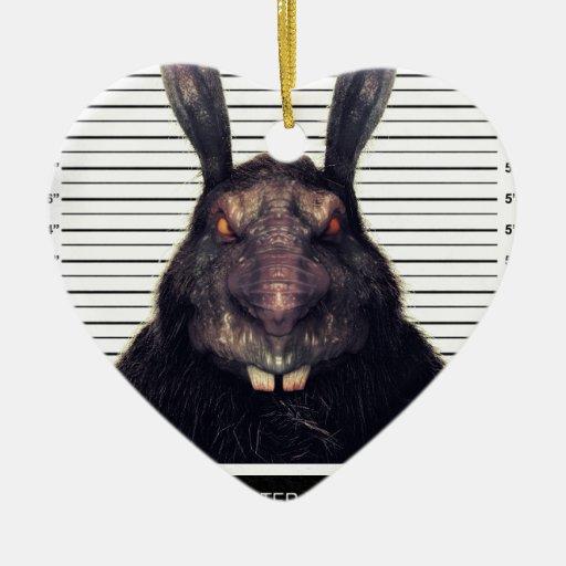 Conejo de conejito malvado de pascua A SOLAS Adornos De Navidad