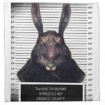Conejo de conejito malvado de pascua A SOLAS Servilletas De Papel