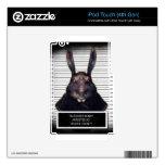 Conejo de conejito malvado de pascua A SOLAS iPod Touch 4G Skins