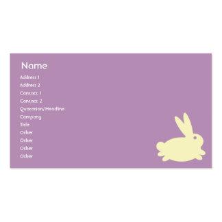 Conejo de conejito - negocio plantillas de tarjetas de visita