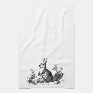 Conejo de conejito toalla de mano