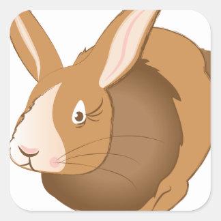 Conejo de conejito pegatina cuadrada