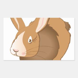 Conejo de conejito pegatina rectangular