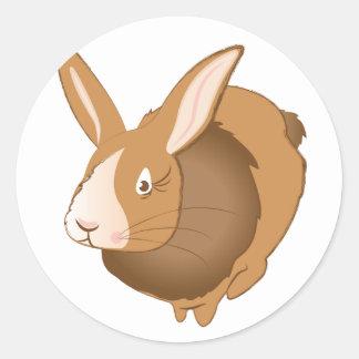 Conejo de conejito pegatina redonda