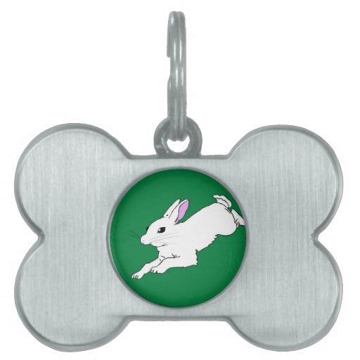 Conejo de conejito placas de nombre de mascota