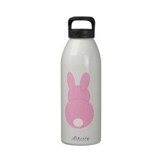 Conejo de conejito rosado botella de agua reutilizable