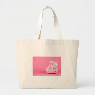 Conejo de conejito rosado bolsas