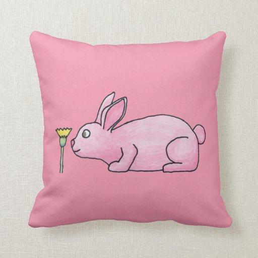 Conejo de conejito rosado cojines