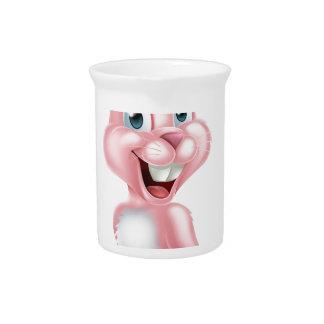 Conejo de conejito rosado de pascua jarrones