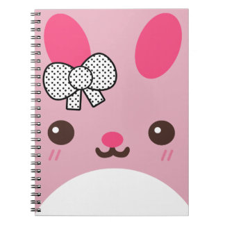 Conejo de conejito rosado de Usagi Cuadernos